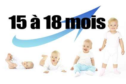 développement bébé 15 à 18 mois